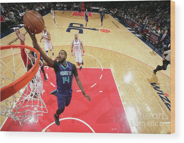 Nba Pro Basketball Wood Print featuring the photograph Michael Kidd-gilchrist by Ned Dishman