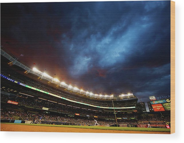 People Wood Print featuring the photograph Michael Pineda by Al Bello