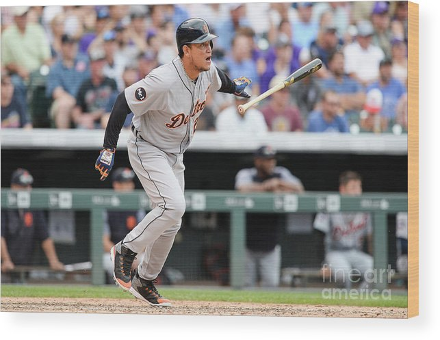 Double Play Wood Print featuring the photograph Miguel Cabrera by Dustin Bradford