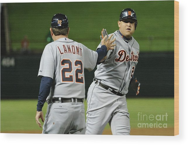 People Wood Print featuring the photograph Miguel Cabrera by Harry How