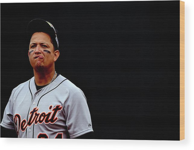 Game Two Wood Print featuring the photograph Miguel Cabrera by Patrick Smith