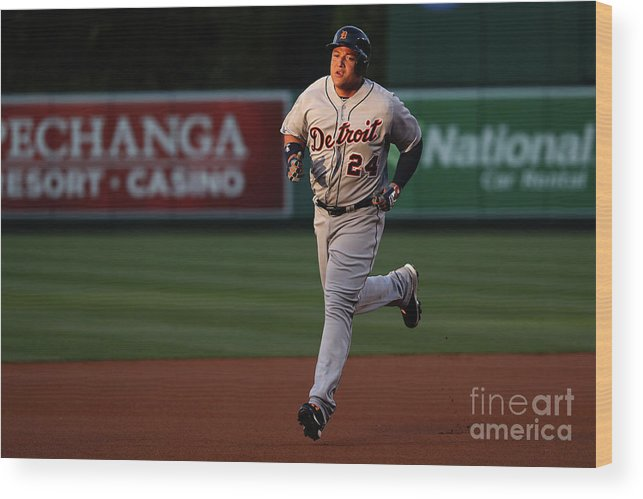 People Wood Print featuring the photograph Miguel Cabrera by Sean M. Haffey