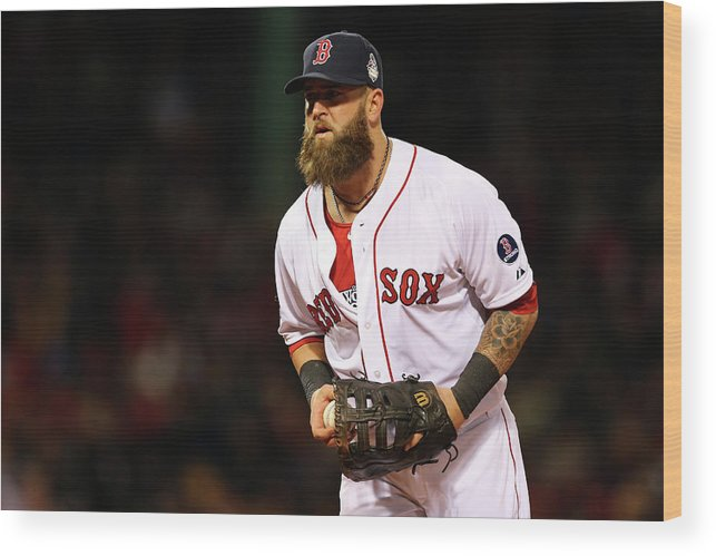 Game Two Wood Print featuring the photograph Mike Napoli by Elsa