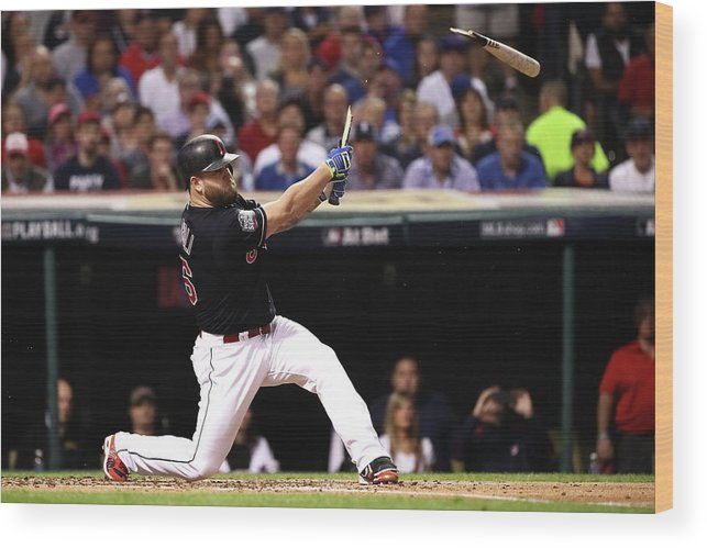 People Wood Print featuring the photograph Mike Napoli by Ezra Shaw