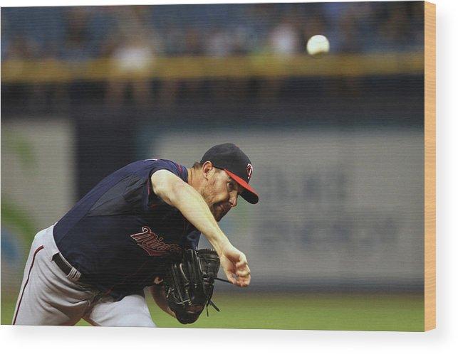 American League Baseball Wood Print featuring the photograph Mike Pelfrey by Scott Iskowitz