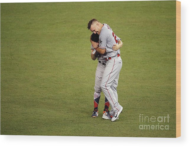 People Wood Print featuring the photograph Mike Trout by Patrick Mcdermott