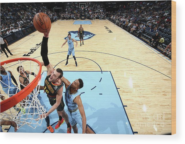 Nba Pro Basketball Wood Print featuring the photograph Miles Plumlee by Joe Murphy