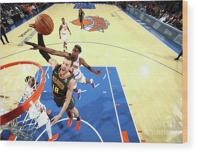 Nba Pro Basketball Wood Print featuring the photograph Miles Plumlee by Nathaniel S. Butler
