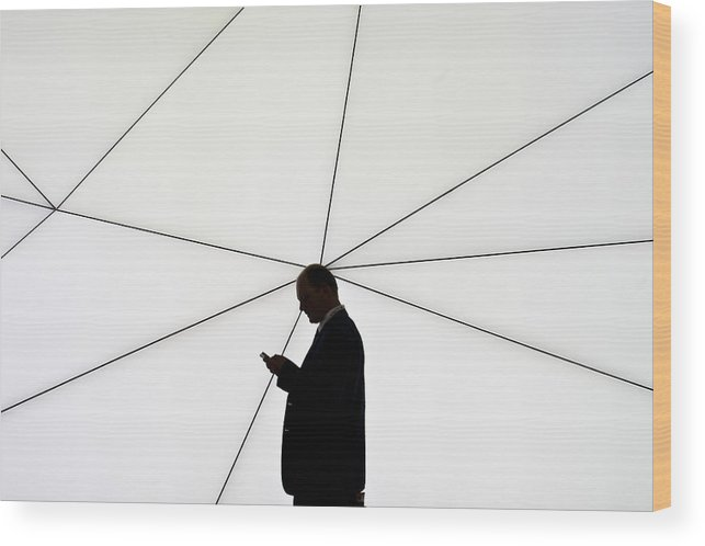 Corporate Business Wood Print featuring the photograph Mobile World Congress 2013 by David Ramos