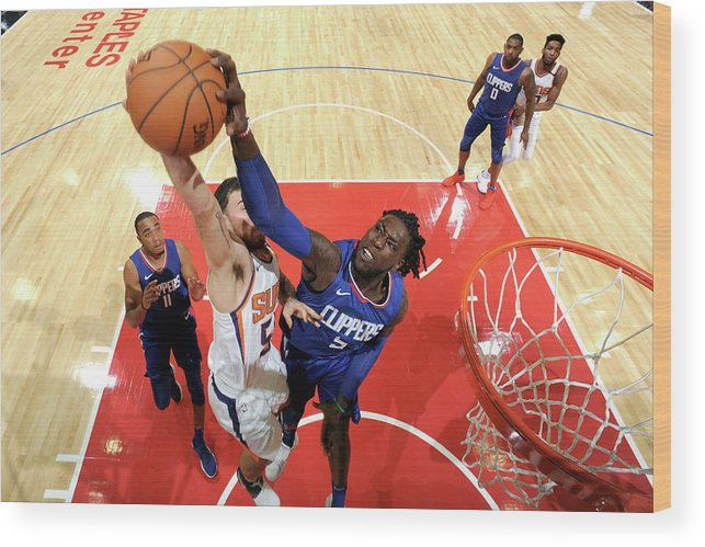 Nba Pro Basketball Wood Print featuring the photograph Montrezl Harrell by Andrew D. Bernstein