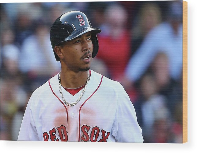 People Wood Print featuring the photograph Mookie Betts by Maddie Meyer