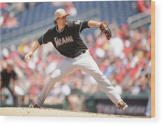 Second Inning Wood Print featuring the photograph Nathan Eovaldi by Mitchell Layton
