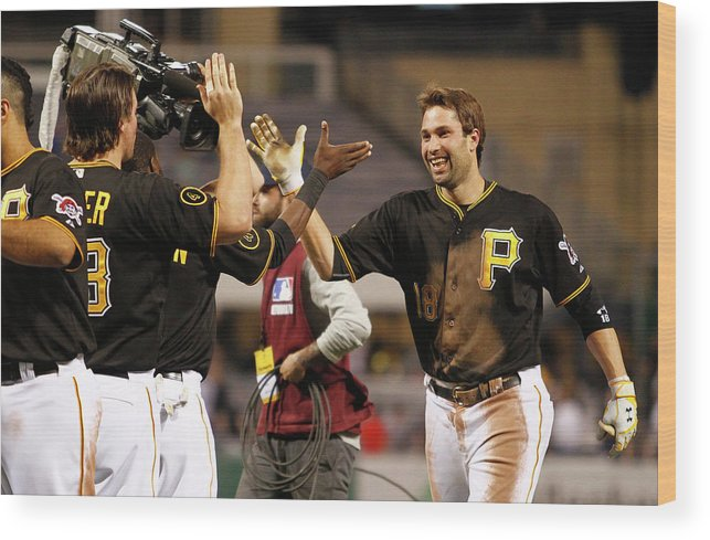 Ninth Inning Wood Print featuring the photograph Neil Walker by Justin K. Aller