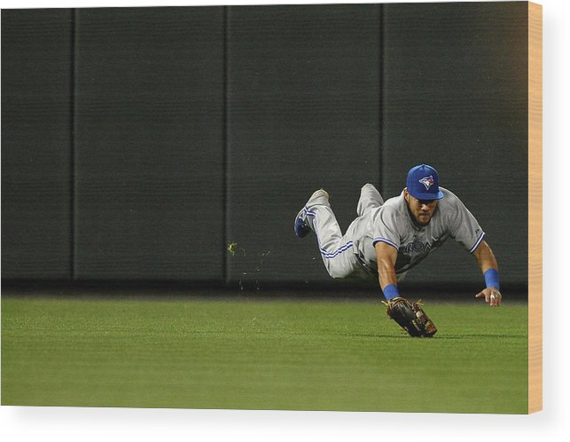 American League Baseball Wood Print featuring the photograph Nelson Cruz and Melky Cabrera by Patrick Smith
