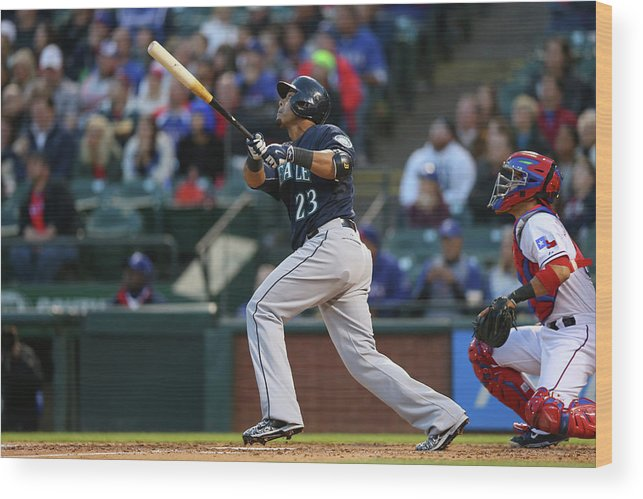 People Wood Print featuring the photograph Nelson Cruz by Ronald Martinez