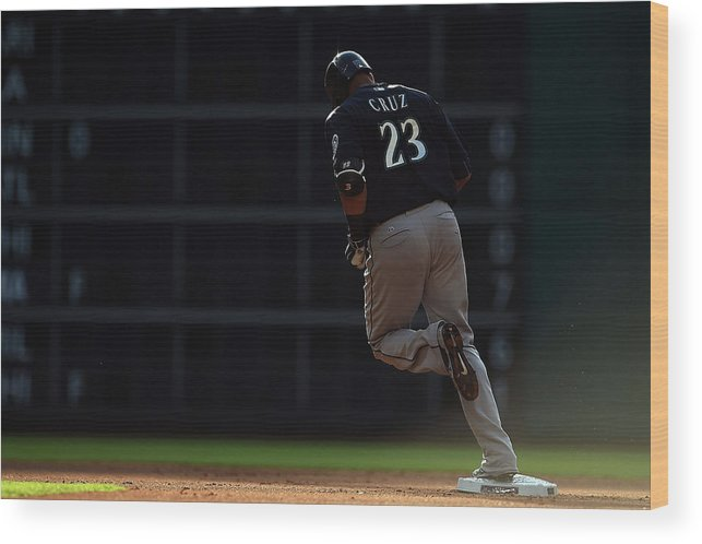 Following Wood Print featuring the photograph Nelson Cruz by Stacy Revere