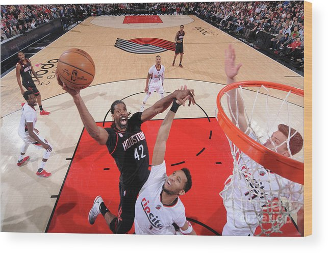 Nba Pro Basketball Wood Print featuring the photograph Nene Hilario by Sam Forencich