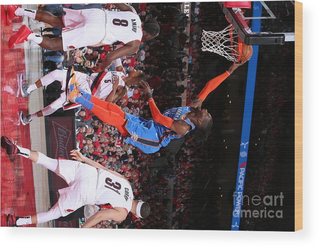 Playoffs Wood Print featuring the photograph Nerlens Noel by Sam Forencich