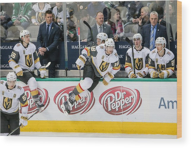 Vegas Golden Knights Wood Print featuring the photograph NHL: DEC 09 Golden Knights at Stars by Icon Sportswire