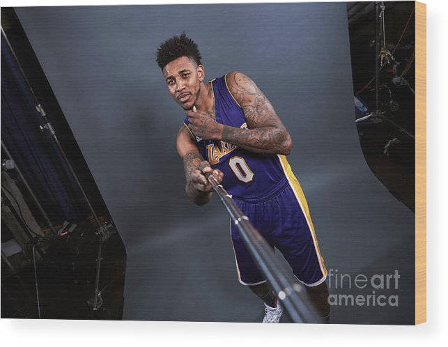 Event Wood Print featuring the photograph Nick Young by Jennifer Pottheiser