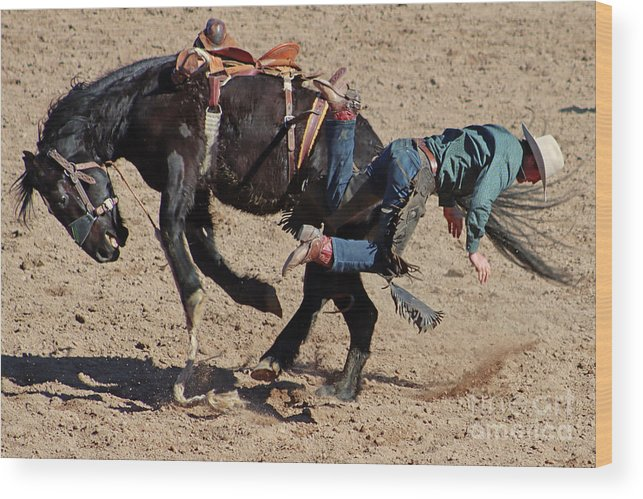 Cowboy Wood Print featuring the photograph No Money Today by Bob Hislop