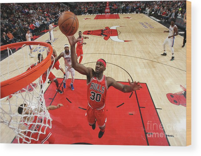 Nba Pro Basketball Wood Print featuring the photograph Noah Vonleh by Gary Dineen