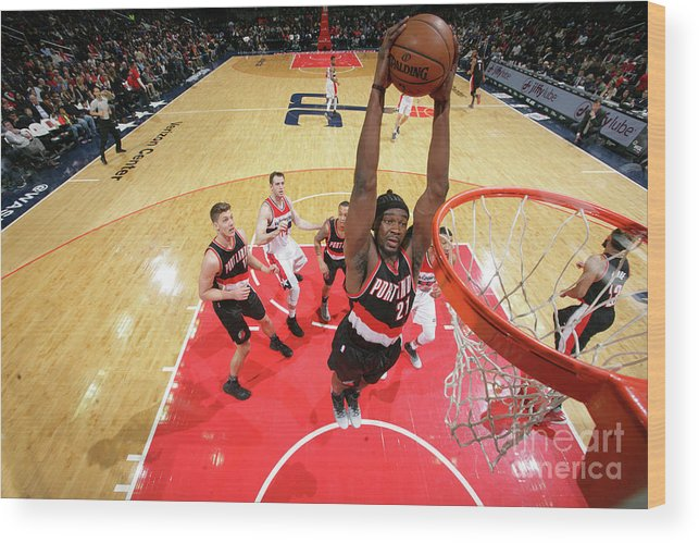 Nba Pro Basketball Wood Print featuring the photograph Noah Vonleh by Ned Dishman