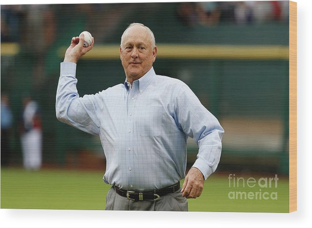 People Wood Print featuring the photograph Nolan Ryan by Scott Halleran