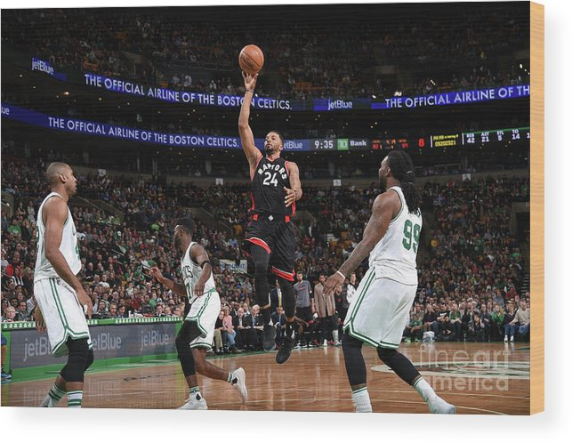 Nba Pro Basketball Wood Print featuring the photograph Norman Powell by Brian Babineau