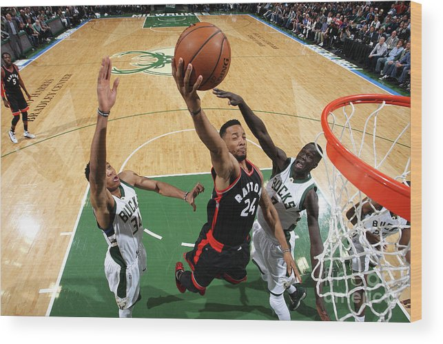Playoffs Wood Print featuring the photograph Norman Powell by Gary Dineen