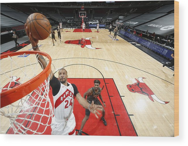 Nba Pro Basketball Wood Print featuring the photograph Norman Powell by Jeff Haynes