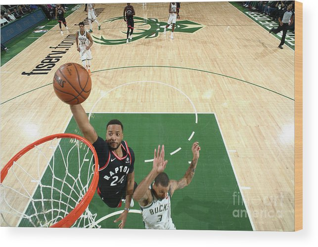 Game Two Wood Print featuring the photograph Norman Powell by Nathaniel S. Butler