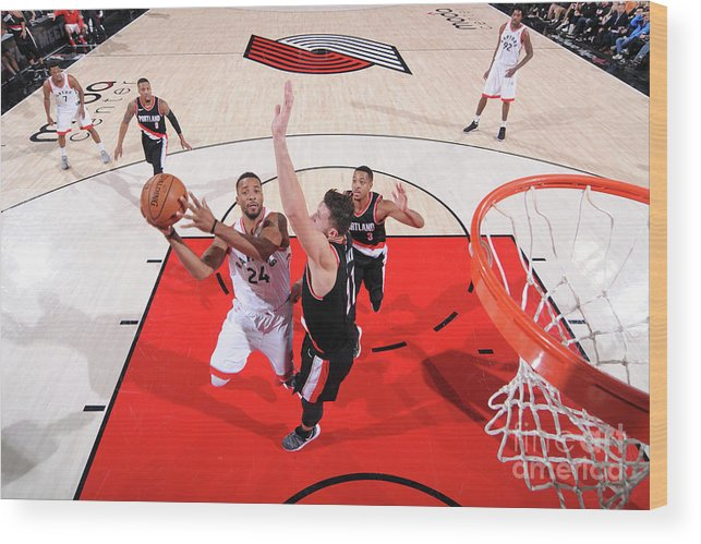 Nba Pro Basketball Wood Print featuring the photograph Norman Powell by Sam Forencich