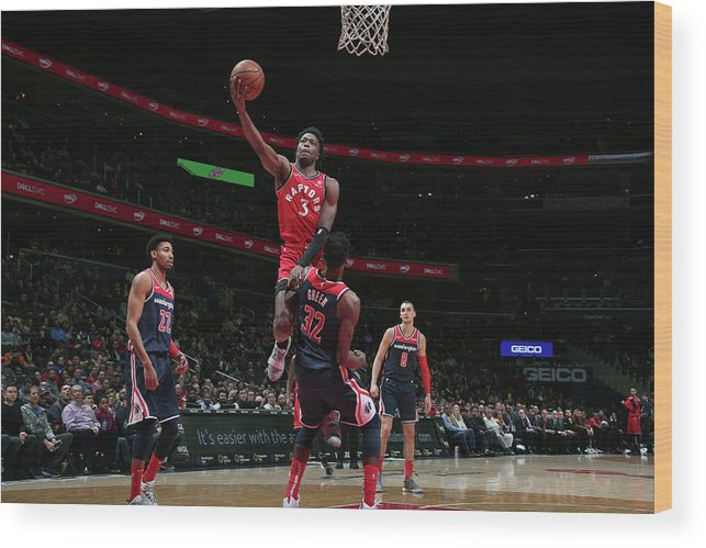 Nba Pro Basketball Wood Print featuring the photograph Og Anunoby by Ned Dishman