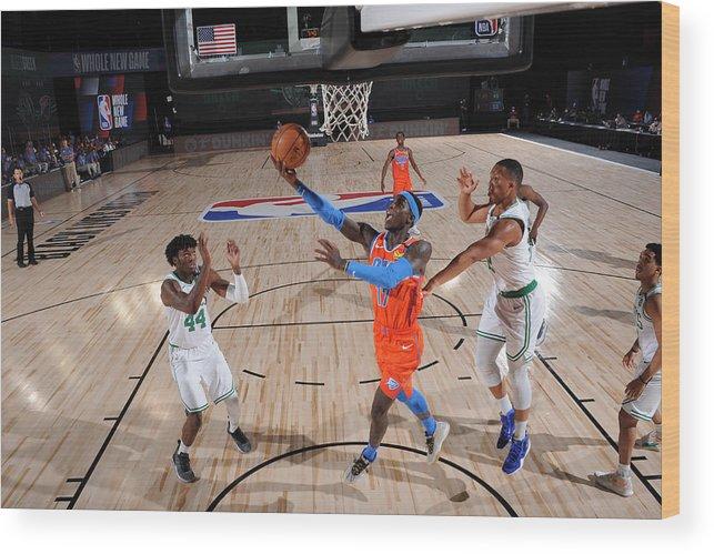 Nba Pro Basketball Wood Print featuring the photograph Oklahoma City Thunder v Boston Celtics by David Sherman