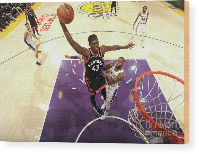 Nba Pro Basketball Wood Print featuring the photograph Pascal Siakam by Andrew D. Bernstein