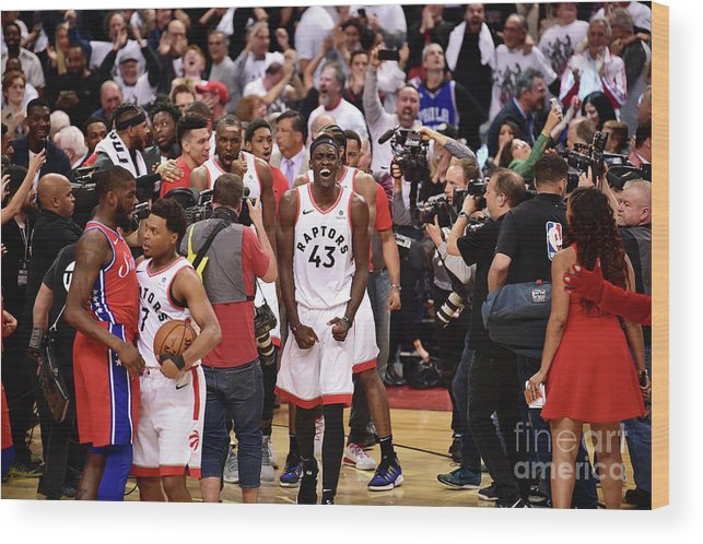 Playoffs Wood Print featuring the photograph Pascal Siakam by David Dow