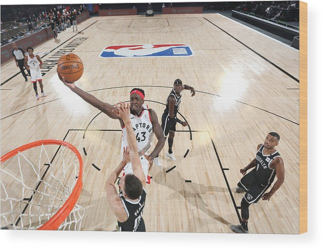 Playoffs Wood Print featuring the photograph Pascal Siakam by David Sherman