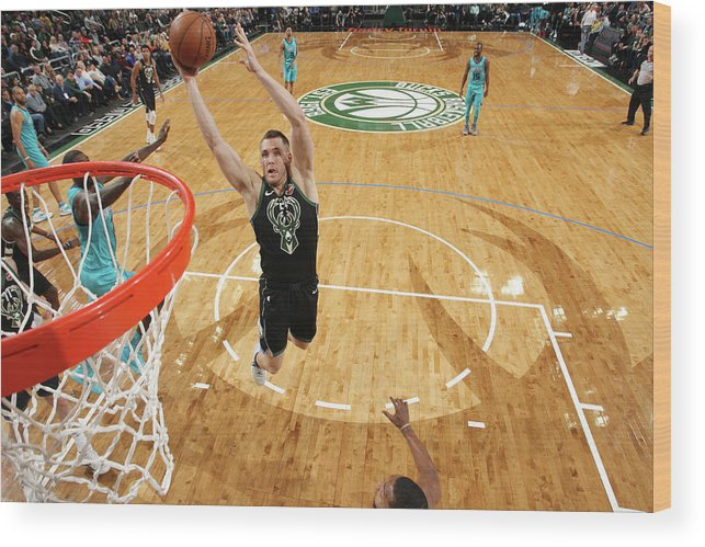 Nba Pro Basketball Wood Print featuring the photograph Pat Connaughton by Gary Dineen