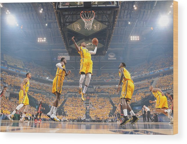 Playoffs Wood Print featuring the photograph Paul George by Ron Hoskins