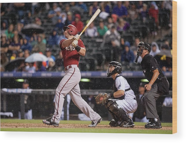 People Wood Print featuring the photograph Paul Goldschmidt and Nick Hundley by Dustin Bradford