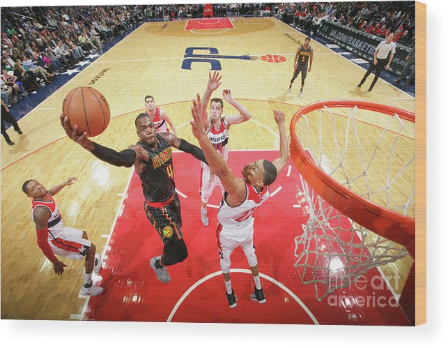 Nba Pro Basketball Wood Print featuring the photograph Paul Millsap by Ned Dishman