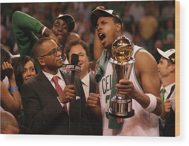Playoffs Wood Print featuring the photograph Paul Pierce by Elsa