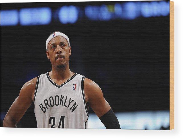 Nba Pro Basketball Wood Print featuring the photograph Paul Pierce by Maddie Meyer