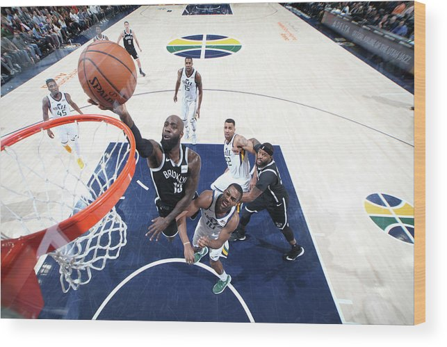 Nba Pro Basketball Wood Print featuring the photograph Quincy Acy by Melissa Majchrzak
