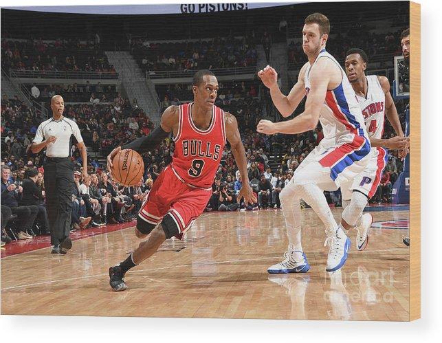 Nba Pro Basketball Wood Print featuring the photograph Rajon Rondo by Chris Schwegler
