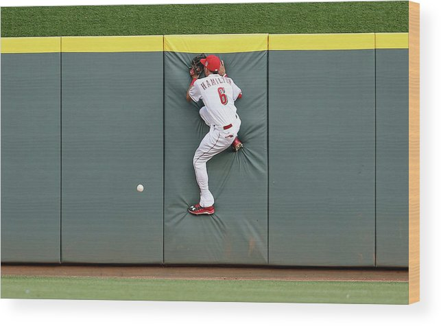Great American Ball Park Wood Print featuring the photograph Randal Grichuk by Andy Lyons