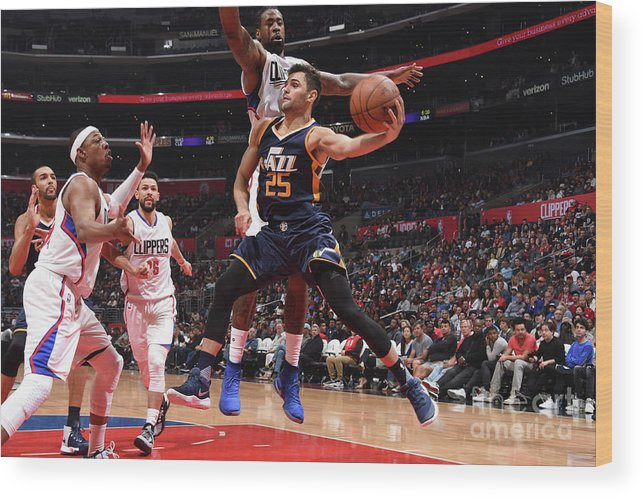 Nba Pro Basketball Wood Print featuring the photograph Raul Neto by Andrew D. Bernstein
