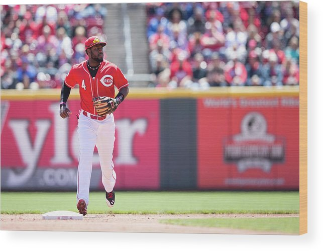 Great American Ball Park Wood Print featuring the photograph Red Phillips by Taylor Baucom