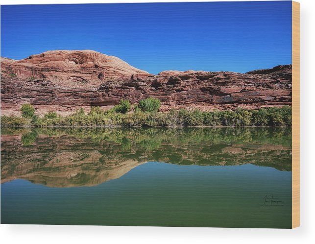 Colorado River Wood Print featuring the photograph Reflections on the River by Jim Thompson